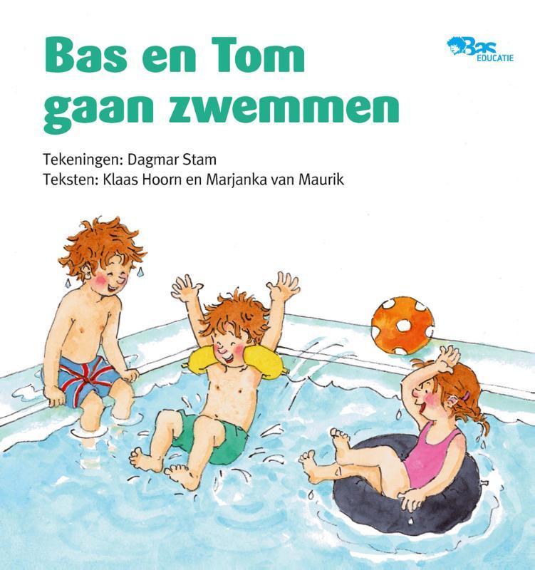 Bas en Tom gaan zwemmen Hoorn, Klaas, Paperback