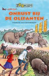 Onrust bij de olifanten Liesbeth van Binsbergen, Hardcover