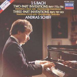 2 PART & 3 PART.. ANDRAS SCHIFF Audio CD, J.S. BACH, CD