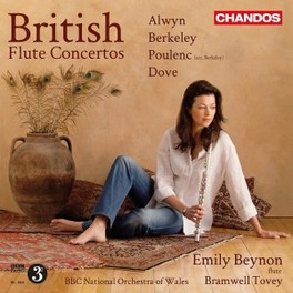 BRITISH FLUTE CONCERTOS BBC NATIONAL ORCHESTRA OF WALES/EMILY BEYNON ALWYN/BERKELEY/POULENC/DO, CD