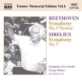 TINTNER MEMORIAL EDITION NOVA SCOTIA S.O. BEETHOVEN/SIBELIUS, CD