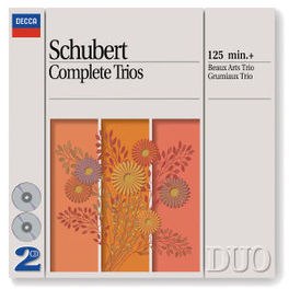 COMPLETE TRIOS BEAUX ARTS TRIO/GRUMIAUX TRIO Audio CD, F. SCHUBERT, CD
