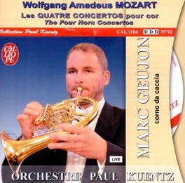 FOUR HORN CONCERTOS CHAMBER ORCHESTRA PAUL KUENTZ W.A. MOZART, CD