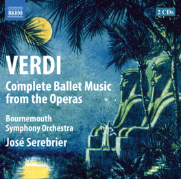 COMPLETE BALLET MUSIC JOSE SEREBRIER/BOURNEMOUTH S.O. G. VERDI, CD