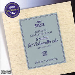 6 SUITES FOR SOLO VIOLONC PIERRE FOURNIER Audio CD, J.S. BACH, CD