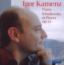 18 PIECES FOR SOLO PIANO IGOR KAMENZ Audio CD, P.I. TCHAIKOVSKY, CD