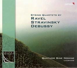 STREICHQUARTETTE QUATUOR SINE NOMINE Audio CD, RAVEL/STRAVINSKY/DEBUSSY, CD
