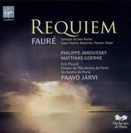 REQUIEM PHILIPPE JAROUSSKY/MATTHIAS GOERNE/E.PICARD/PAAVO JARVI G. FAURE, CD