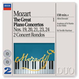GREAT PIANO CONCERTO 1 BRENDEL/ASMIF/MARRINER Audio CD, W.A. MOZART, CD