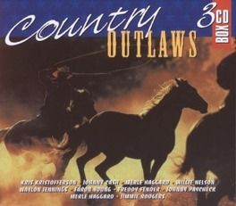 COUNTRY OUTLAWS WJ.CASH/W.JENNINGS/FREDDY FENDER/W.NELSON/H.WILLIAMS Audio CD, V/A, CD