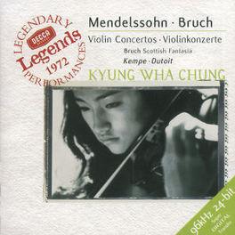VIOLIN CONCERTOS W/CHUNG, MONTREAL SYM.ORCH., CHARLES DUTOIT Audio CD, MENDELSSOHN/BRUCH, CD