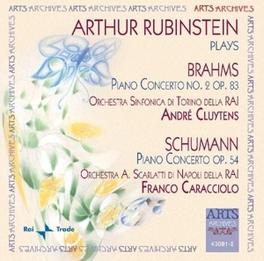 PLAYS BRAHMS & SCHUMANN ORCH.SINF.DELLA RAI/ANDRE CLUYTENS, FRANCO CARACCIOLO Audio CD, ARTHUR RUBINSTEIN, CD