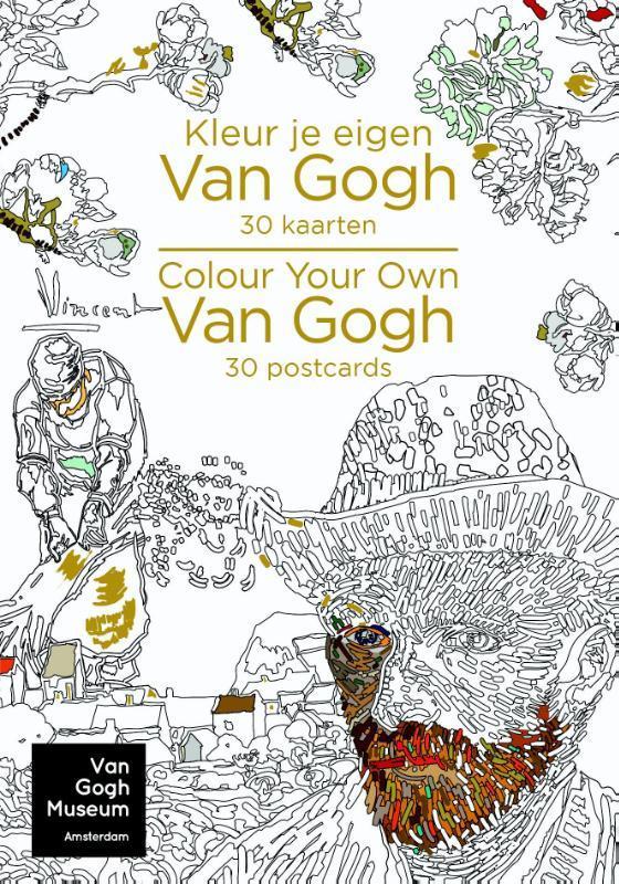 Kleur je eigen van gogh 30 kaarten-colour your own van gogh 30 postcards. 30 kaarten 30 postcards, P