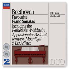 FAVOURITE PIANO SONATES MONDSCHEIN/PATHETIQUE/ALFRED BRENDEL Audio CD, L. VAN BEETHOVEN, CD