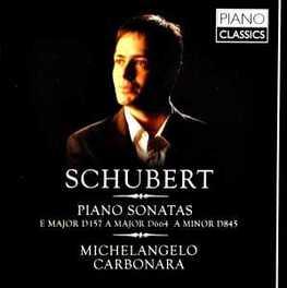 PIANO SONATAS MICHAELANGELO CARBONARA F. SCHUBERT, CD