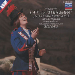 LA FILLE DU REGIMENT ORCH.&CHORUS ROYAL OPERA HOUSE/BONYNGE Audio CD, G. DONIZETTI, CD