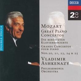PIANOCONCERTS 20,21,23-25 V.ASHKENAZY/PO Audio CD, W.A. MOZART, CD