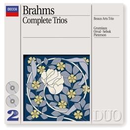 COMPLETE TRIOS GRUMIAUX/PIETERSON/BEAUX ARTS TRIO Audio CD, J. BRAHMS, CD
