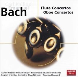 FLUTE & OBOE CONCERTOS W/NICOLET, HOLLIGER, ZINMAN Audio CD, C.P.E. BACH, CD