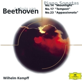 PIANO SONATA NO.14,17,23 W/WILHELM KEMPFF Audio CD, L. VAN BEETHOVEN, CD