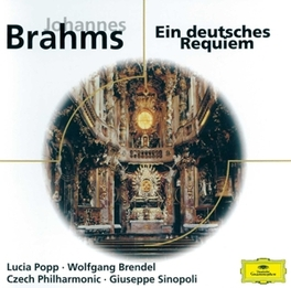 GERMAN REQUIEM W/POPP, BRENDEL, SINOPOLI Audio CD, J. BRAHMS, CD