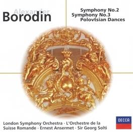 SYMPHONIES NO.2 & 3 /G.SOLTI, MARTINON A. BORODIN, CD