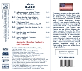 AMERICAN YOUTH CONCERTO AMBACHA CHAMBER ORCHESRA & ENSEMBLE MARION BAUER, CD