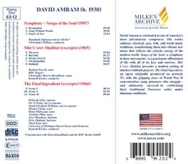 SYMPHONY:SONGS OF THE SOU VARIOUS ARTISTS D. AMRAM, CD