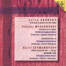 OVERTURE A DREAM ON THE V ...VOLTA/W/USSR STATE S.O., EVGENY SVETLANOV, LEONID NI Audio CD, ARENSKY/MYASKOVSKY/SZYMAN, CD