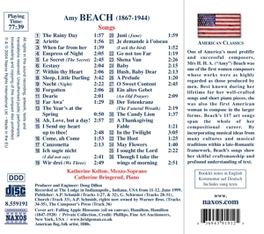 SONGS W/KATHERINE KELTON A. BEACH, CD
