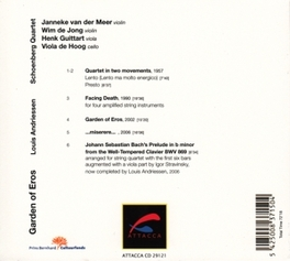 GARDEN OF EROS SCHONBERG QUARTET Audio CD, L. ANDRIESSEN, CD
