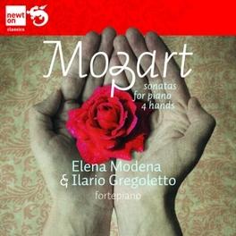 SONATAS FOR PIANO FOUR HA ELENA MODENA/ILARIO GREGOLETTO Wolfgang Amadeus Mozart, CD