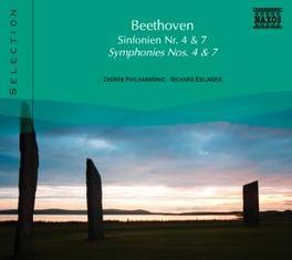 SYMPHONIES NO.4 & 7 ZAGREB P.O./EDLINGER L. VAN BEETHOVEN, CD