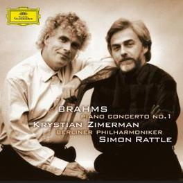 PIANO CONCERTO NO.1 SIMON RATTLE/KRYSTIAN ZIMERMAN Audio CD, J. BRAHMS, CD